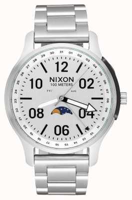 Nixon Ascender | tout argent | bracelet en acier inoxydable | cadran blanc A1208-1920-00
