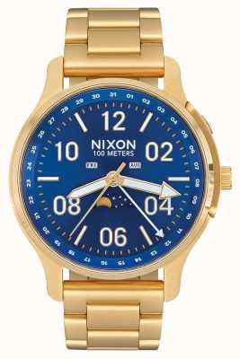Nixon Ascender | tout or / rayon de soleil bleu | acier ip or | cadran bleu A1208-2735-00
