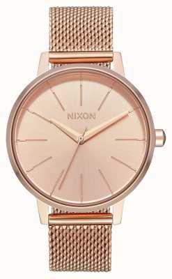 Nixon Kensington milanese   tout en or rose   maille ip or rose   cadran en or rose A1229-897-00