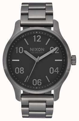 Nixon Patrouille | gunmetal / noir | bracelet en acier ip bronze | cadran bronze A1242-1531-00