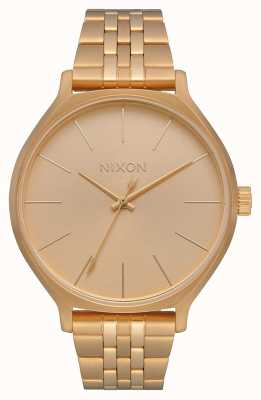 Nixon Clique   tout l'or   bracelet en acier ip or   cadran en or A1249-502-00
