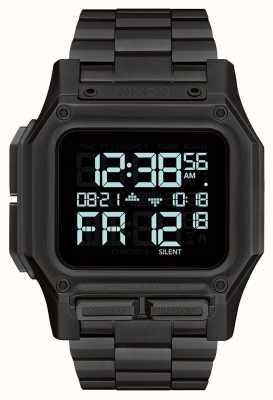 Nixon Regulus ss | tout noir | numérique | bracelet en acier ip noir A1268-001-00