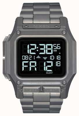Nixon Regulus ss | gunmetal | numérique | bracelet en acier ip bronze A1268-131-00