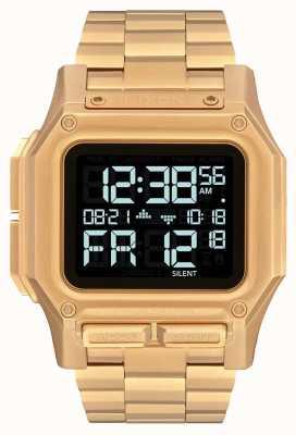 Nixon Regulus ss | tout l'or | numérique | bracelet en acier ip or | A1268-502-00
