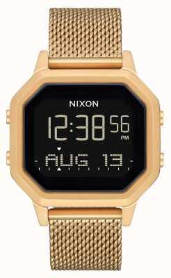Nixon Siren milanese | tout l'or | numérique | bracelet en maille d'acier ip or A1272-502-00
