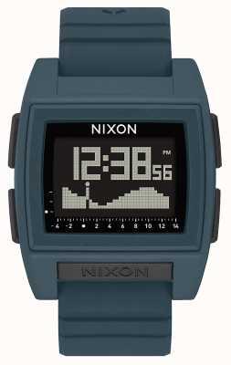Nixon Base marée pro | ardoise noire | numérique | bracelet en silicone couleur ardoise A1307-2889-00