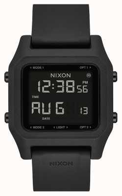 Nixon Agrafe | noir | numérique | bracelet en silicone noir A1309-000-00