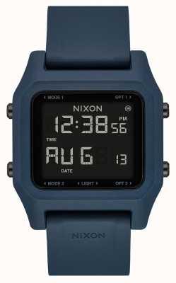 Nixon Agrafe | ardoise noire | numérique | bracelet en silicone couleur ardoise A1309-2889-00