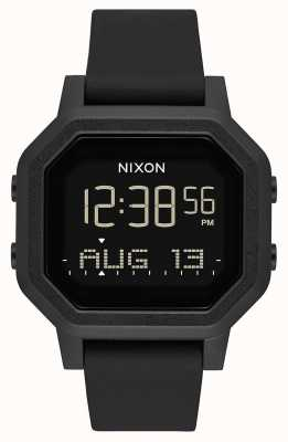 Nixon Siren | tout noir | numérique | bracelet en silicone noir A1311-001-00