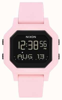Nixon Siren | rose pâle | numérique | bracelet en silicone rose A1311-3154-00