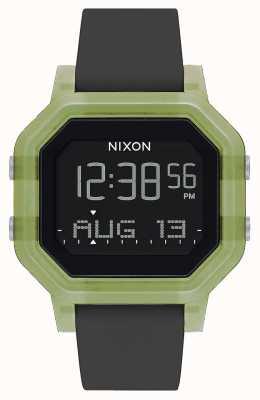 Nixon Siren | vert clair | numérique | bracelet en silicone noir A1311-3408-00