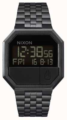 Nixon Réexécuter | tout noir | numérique | bracelet en acier ip noir A158-001-00