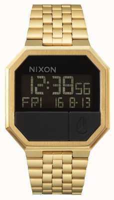 Nixon Réexécuter | tout l'or | numérique | bracelet en acier ip or A158-502-00