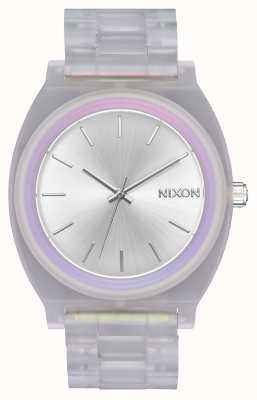 Nixon Time Teller acétate | soleil clair / argenté / arc-en-ciel | cadran argenté A327-3250-00