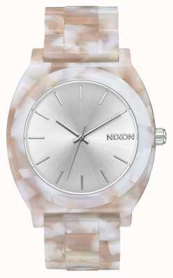 Nixon Time Teller acétate | rose / argent | cadran argenté A327-718-00
