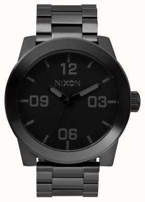 Nixon Caporal ss | tout noir | bracelet en acier ip noir | cadran noir A346-001-00