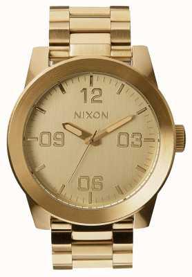 Nixon Caporal ss | tout l'or | bracelet en acier ip or | cadran en or A346-502-00