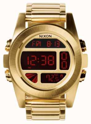 Nixon Unité ss   tout l'or   numérique   bracelet en acier ip or   A360-502-00