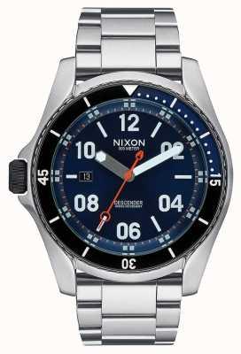 Nixon Descender | rayon de soleil bleu | bracelet en acier inoxydable | cadran bleu A959-1258-00