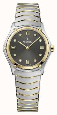 EBEL Classique du sport féminin | bracelet en acier bicolore | cadran en diamant gris 1216419A