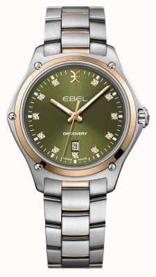 EBEL Découverte des femmes | bracelet en acier inoxydable argenté | cadran vert | 1216424