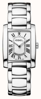 EBEL Brasilia pour femmes | bracelet en acier inoxydable | cadran blanc 1216461