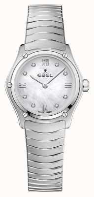 EBEL Classique du sport féminin | bracelet en acier inoxydable | cadran argenté en diamant 1216474A