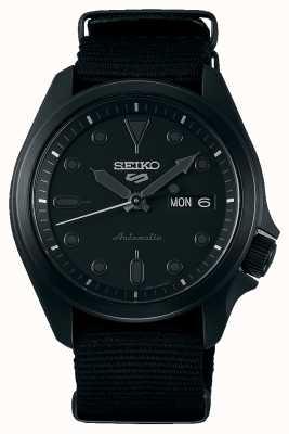Seiko 5 sports | étui plaqué ip noir | bracelet nato noir SRPE69K1