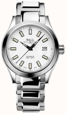 Ball Watch Company Ingénieur iii marvelight | acier inoxydable | cadran blanc NM2026C-S10J-WH