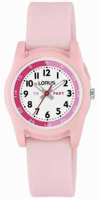 Professeur de temps Lorus Kids avec bracelet en silicone rose R2357NX9
