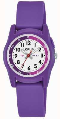 Professeur de temps Lorus Kids avec bracelet en silicone violet R2359NX9