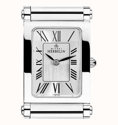 Michel Herbelin Antarès | cadran de montre en acier inoxydable uniquement | chiffres romains H.17048/01