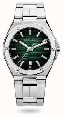 Michel Herbelin Quartz Cap camarat | bracelet en acier inoxydable | cadran vert 12245/B16