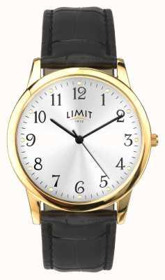 Limit Boîtier en or 38 mm bracelet effet croco noir 5953.01