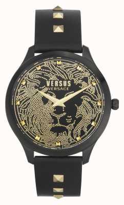 Versus Versace | femmes | domus | bracelet en cuir noir | cadran noir | VSPVQ0520