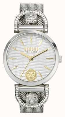 Versus Versace iséo femme | bracelet en maille d'acier inoxydable | cadran blanc VSPVP0420