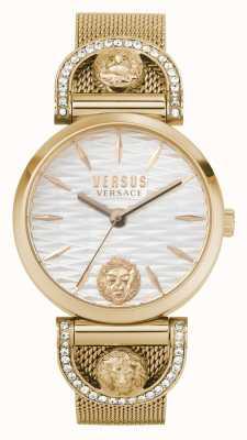 Versus Versace Iseo femmes | bracelet en maille or rose | cadran blanc VSPVP0720