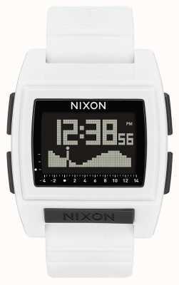 Nixon Base marée pro | blanc | numérique | bracelet en silicone blanc A1212-100-00