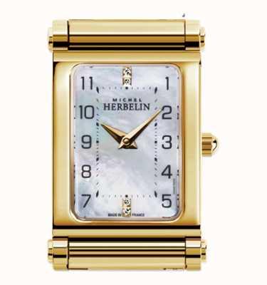 Michel Herbelin Antarès | cadran de montre plaqué or uniquement | cadran rectangle H.17048/P79