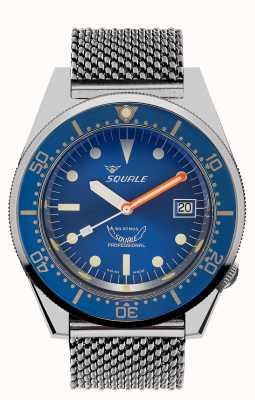 Squale 1521 maille océanique | cadran bleu | bracelet en maille d'acier inoxydable 1521OCN-CINSS20