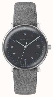Junghans Max bill damen quartz | plexiglas | bracelet en tissu gris 047/4542.04