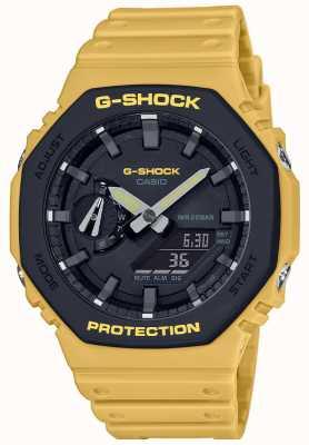 Casio | g-shock | noyau de carbone | lunette en couches | bracelet en caoutchouc jaune | GA-2110SU-9AER