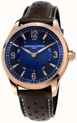 Frederique Constant Montre intelligente horlogère exclusive | bracelet en cuir marron FC-282AN5B4
