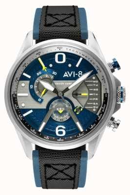 AVI-8 Hawker harrier ii | chronographe | cadran bleu | bracelet nato noir en cuir bleu AV-4056-01