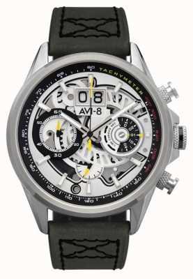 AVI-8 Hawker harrier ii | chronographe | bracelet en cuir vert AV-4065-01