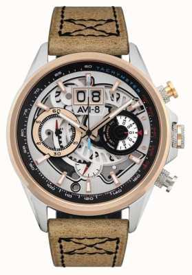 AVI-8 Hawker harrier ii | chronographe | bracelet en cuir marron AV-4065-02
