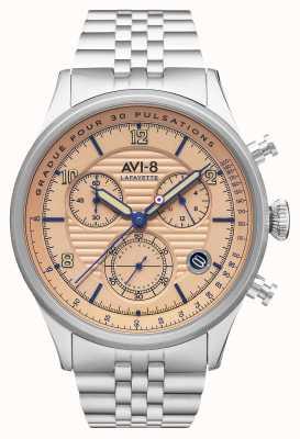 AVI-8 Flyboy lafayette | chronographe | bracelet en acier inoxydable AV-4076-44