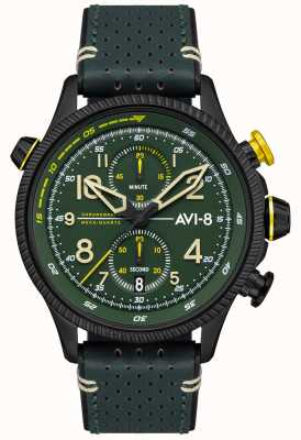 AVI-8 Hawker hunter | chronographe | cadran vert | bracelet en cuir vert AV-4080-03