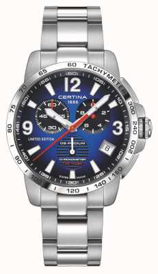 Certina | podium ds | chronomètre | bracelet en acier inoxydable | cadran bleu | C0344531104710