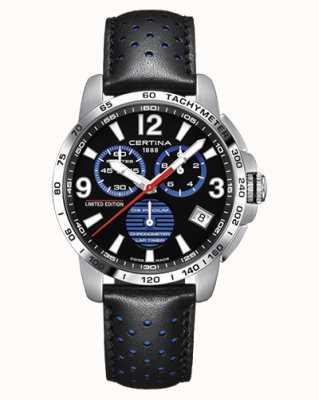 Certina | podium ds | chronomètre | bracelet en cuir noir | cadran noir | C0344531605720